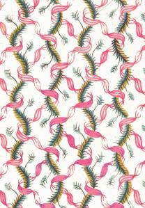 Ribbons (1930s) by John Aldridge, hand-painted paper design.