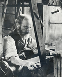 A home weaver at Bethnal Green
