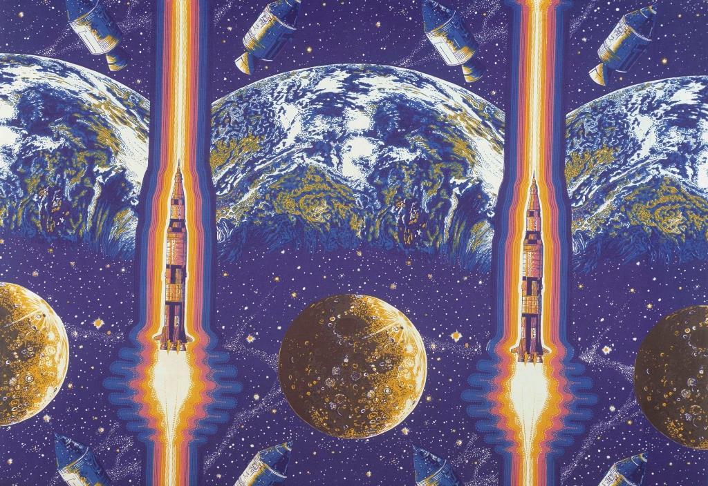 Lunar Rocket - fabric